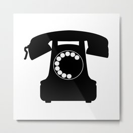 Traditional Telephone Icon Metal Print