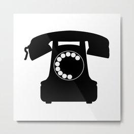 Traditional Telephone Icon Metal Print