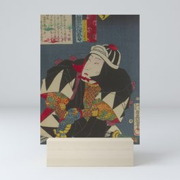 Japanese SAMURAI Color Painting Mini Art Print
