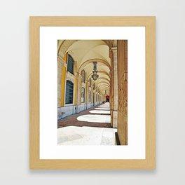Commerce square arcades Framed Art Print
