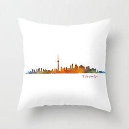 Toronto Canada City Skyline Hq v01 Throw Pillow