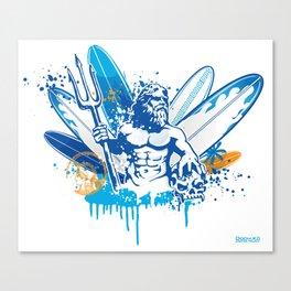 poseidon surfer II Canvas Print