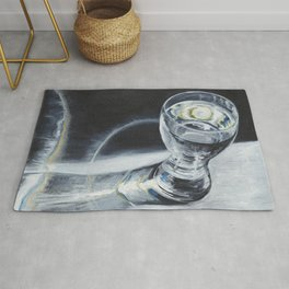 Glass of the water in the light Rug