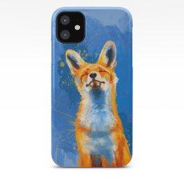 Happy Fox, inspirational animal art iPhone Case