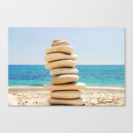 Coastal Cairn Canvas Print