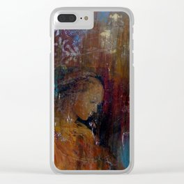 Madonna In A Rain Of Starlight Clear iPhone Case