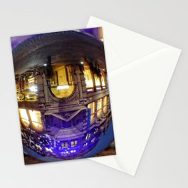 Winter scene through the crystal ball  / Glass Ball Photography Stationery Cards