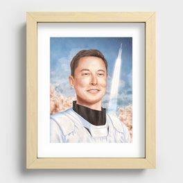 Elon Musk Recessed Framed Print