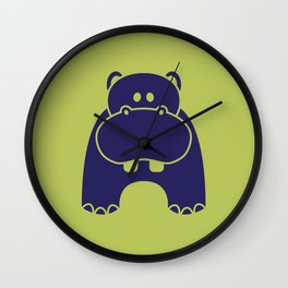 A Hungry Hippo Wall Clock