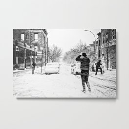 Blizzard in NYC Metal Print