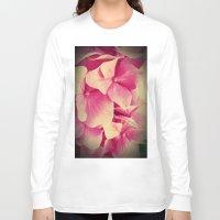 hydrangea Long Sleeve T-shirts featuring hydrangea by Enri-Art