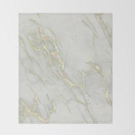 Marble Love Gold Metallic Throw Blanket