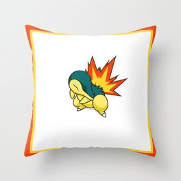Cyndaquil #155 Throw Pillow