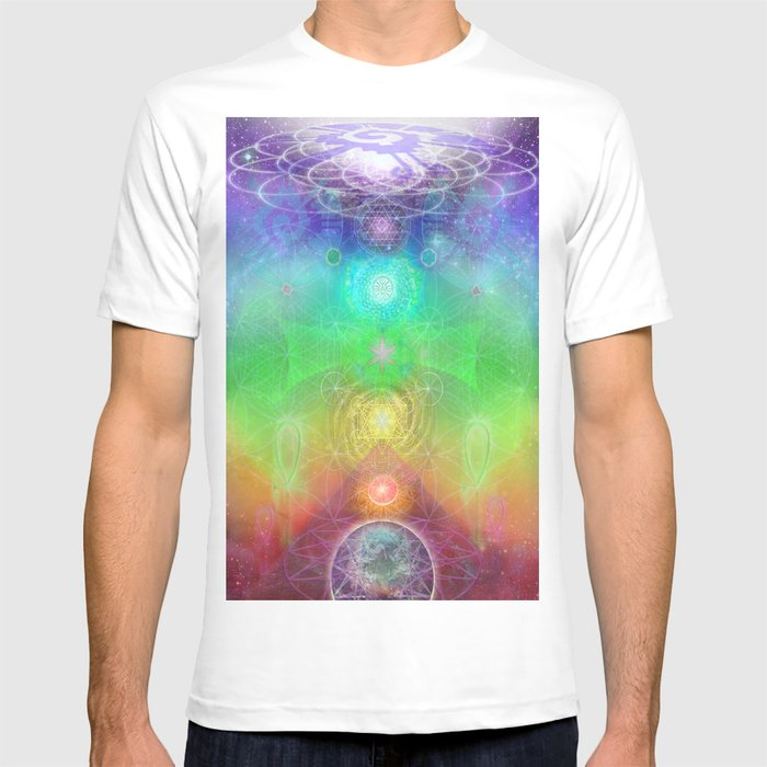 chakra activation geometry template t shirt by jahsah society6