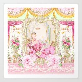 Marie Antoinette Rococo splendour Art Print