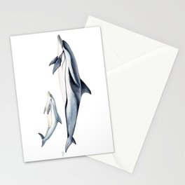 Striped dolphin Stationery Cards