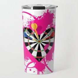 Dartboard Romance Travel Mug