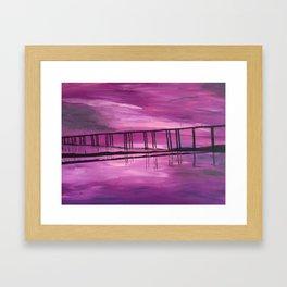 Sunset on the Hackensack River Framed Art Print