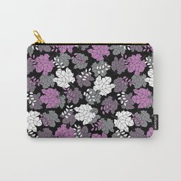 Fall leaves pattern on a black background Carry-All Pouch