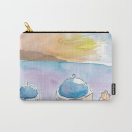 Santorini Blue Domes in Greece Carry-All Pouch