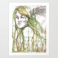 fairies Art Prints featuring Fairies by Alex Schol