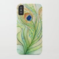 peacock feather iPhone & iPod Cases featuring Peacock Feather by Olechka