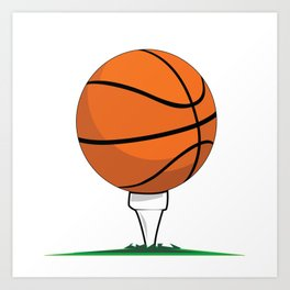 Basketball Tee Art Print