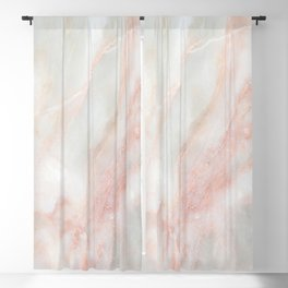 Softest blush pink marble Blackout Curtain