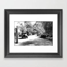 Step back in Time! Framed Art Print