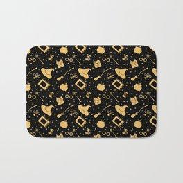 Magic symbols (black) Bath Mat