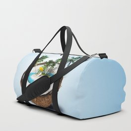 The illusion of the sea paradise blue Duffle Bag