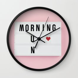 Motivation box Wall Clock