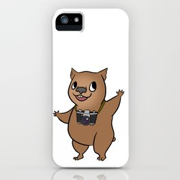 Wombat with 35mm SLR iPhone Case