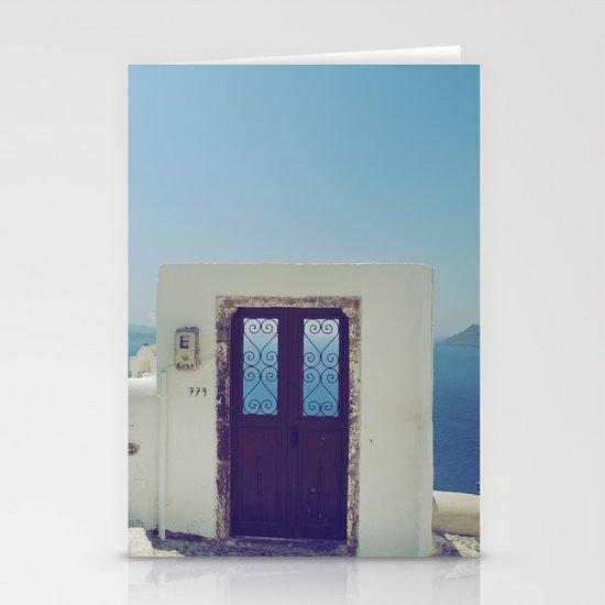 Santorini Door V Stationery Cards