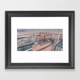 Montreal Skyline - Aerial View of Farine Five Roses  Framed Art Print