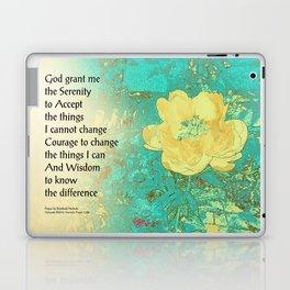 Serenity Prayer Peony Yellow Turquoise Laptop & iPad Skin