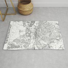 Johannesburg White Map Rug