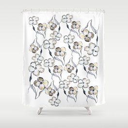 Dancing Floral Dreams Shower Curtain