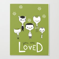 You are Loved - green Canvas Print
