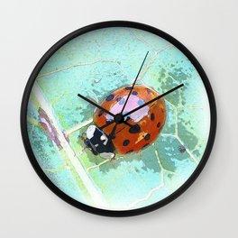 Painted Ladybug Wall Clock