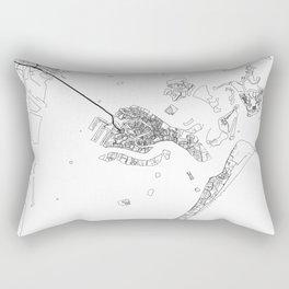 Venice Map White Rectangular Pillow