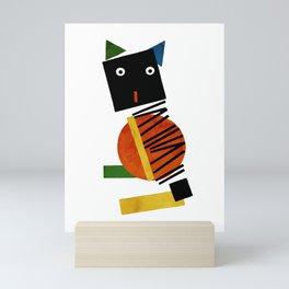 Black Square Cat - Suprematism Mini Art Print