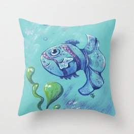 Sweet fish Throw Pillow