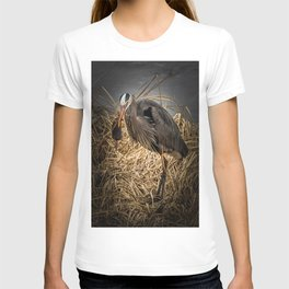 Heron and the mole T-shirt