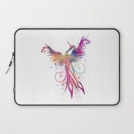 Phoenix Art Colorful Purple Watercolor Art Gift Nursery Art Bird Art Mythology Gift Sun Art Laptop Sleeve