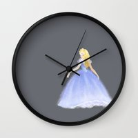 cinderella Wall Clocks featuring Cinderella by Martina Zambelli