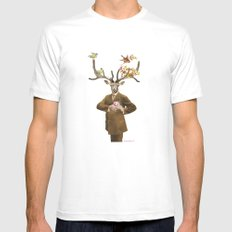 Monsieur Le Cerf MEDIUM White Mens Fitted Tee