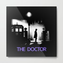 The 11th Doctor meets a new enemy Metal Print