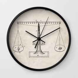 Lawyer Patent - Paralegal Art - Antique Wall Clock