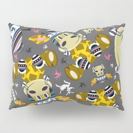 Cute Cartoon Bobble Hat Giraffe Pattern Pillow Sham